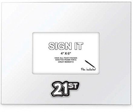 21st Birthday Signature Photo Frame, Sign It